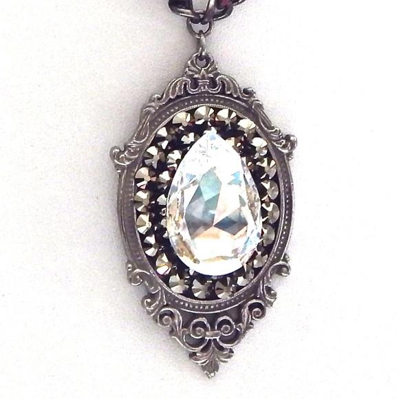 GASOLINE GLAMOUR Jewelry - RANSOM RHINESTONE MOONLIGHT DROP NECKLACE SAMPLE